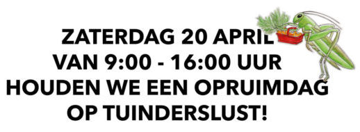 Opruimdag 20 april